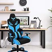 Cadeira para jogos Hanover com assento ajustável para elevação de gás e suporte lombar