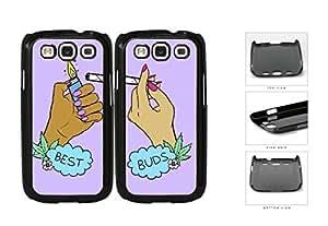 Best Buds Marijuana Best Friend Set Hard Plastic Snap On Cell Phone Case Samsung Galaxy S3 SIII I9300