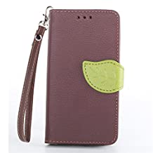 Moto G Case,XYX [Kickstand] Moto G (1st Gen) Case [Brown, Leaf Buckle],[Card Slot][Flip][Slim Fit][Wallet][Lanyard] Premium Protective Case for Motorola Moto G (1st Gen) XT1032 [Brown]