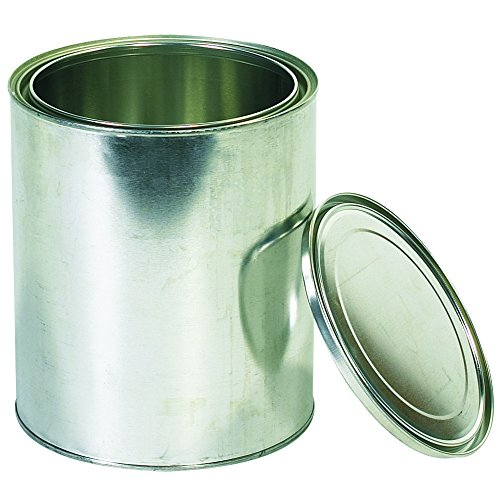 Boxes Fast BFHAZ1072 Empty Metal Paint Cans with Lids, 1 Gallon,, Silver (Pack of 36) -