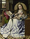Oil Painting 'Follower Of Robert Campin - The Virgin And Child Before A Firescreen,about 1440' 12 x 16 inch / 30 x 40 cm , on High Definition HD canvas prints, gifts for Bar, Hallway And Home decor