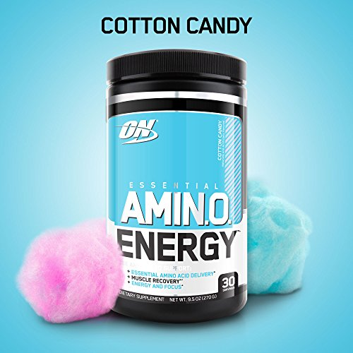 Optimum Nutrition Amino Energy, Cotton Candy, Preworkout and Essential Amino Acids with Green Tea and Green Coffee Extract, 30 Servings by Optimum Nutrition
