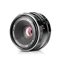 Meike 25mm f/1.8 Large Aperture Wide Angle Lens Manual Focus Lens for Sony Mirrorless Emount Cameras