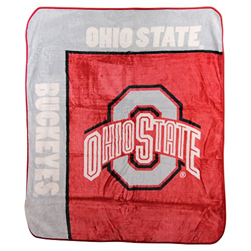The Northwest Company NCAA Plush School Spirit Throw Blanket 50