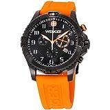 Wenger Squadron Rescue Black Dial Silicone Strap Men's Watch 77058