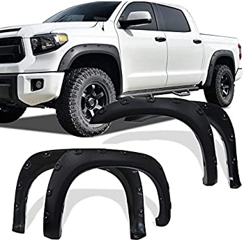 Premium Fender Flares Pocket Rivet Style Fit 2014-2018 Tundra 4pc Cover Set