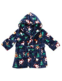 BABYTOWN Baby Novelty Christmas Hooded Fleece Dressing Robe (Ages 6-24 Months)