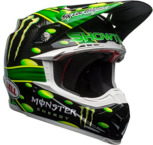 (Bell Moto-9 Flex Off-Road Motorcycle Helmet (MC Monster Replica 18.0 Gloss Green/Black,)