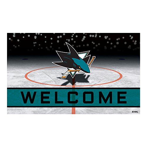 FANMATS 21285 Team Color Crumb Rubber San Jose Sharks Door Mat, 1 (Mat San Jose)
