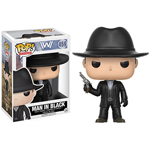 vominidimuhuvi The Man in Black: Funko POP! TV x Westworld Vinyl Figure + 1 Free American TV Themed Trading Card Bundle (13526)