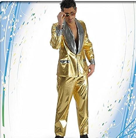 Full dorado Golden disfraz Elvis Presley, dorado, XL: Amazon.es ...