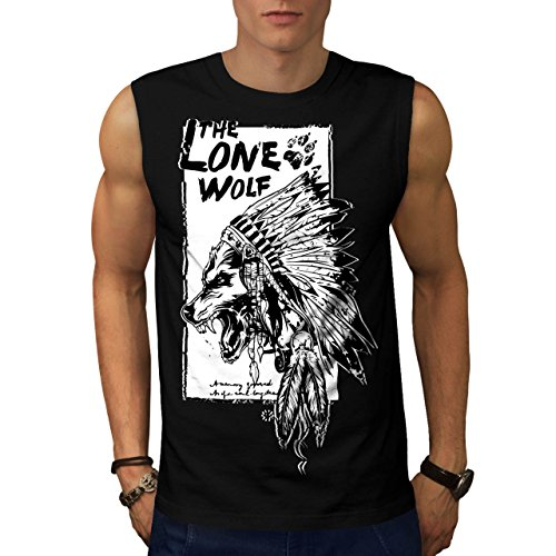 [The Lone Wolf Indian Wild Pack Men NEW M Sleeveless T-shirt | Wellcoda] (Bear Jew Costume)