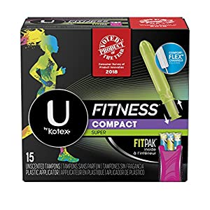 U by Kotex Unscented Super Absorbency Fitness Tampons with Fit Pak