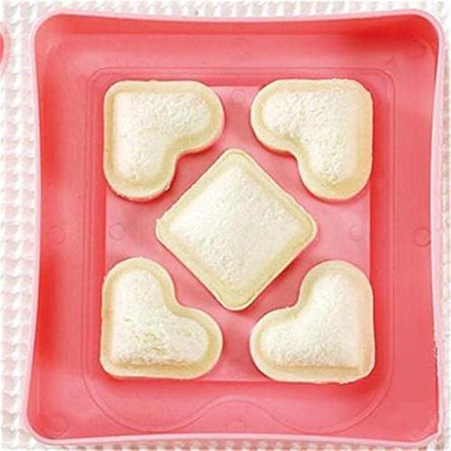 Dolland Mini Love Heart Shape Sandwich Cake Bread Toast Tool Craft Maker Mold Cutter