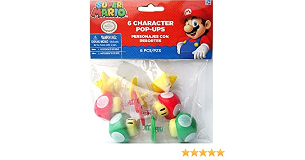 Amazon.com: Super Mario Plastic Character Pop-Ups / Favors (6ct): Toys & Games