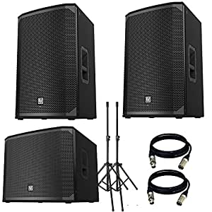 electro voice ekx 15p powered 15 2 way speaker with ekx 18sp powered 18 subwoofer. Black Bedroom Furniture Sets. Home Design Ideas