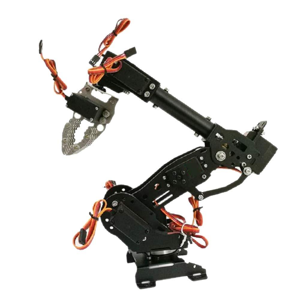 SM SunniMix Servo Arduino Brazo Robótico Mecanismo 8 DOF con Control Wireless Color Negro - D