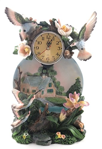 (Porcelain Quartz Hummingbird Desk Clock)