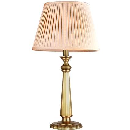 Moolo Lámpara de Mesa, LED Lámpara de Cobre Puro Regulable ...