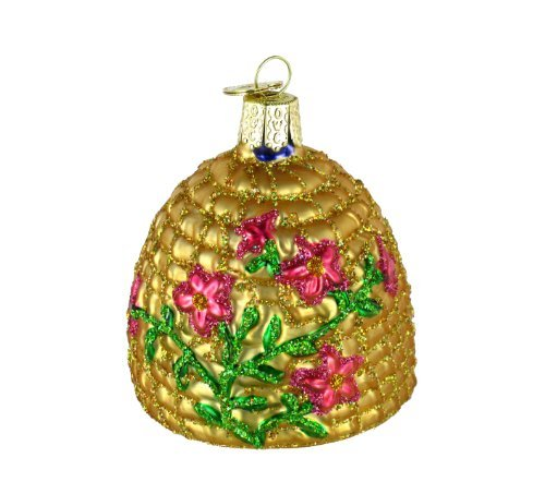Old World Christmas Ornaments: Bee Skep Glass Blown Ornaments for Christmas Tree by Old World Christmas (Image #4)