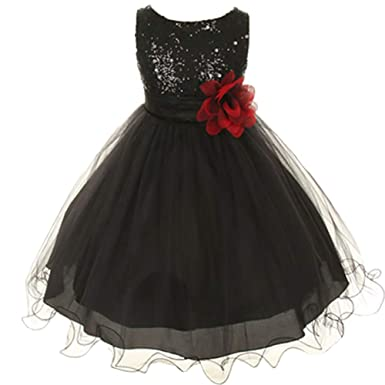 3afaa615441ac Amazon.co.jp: 全11色 サイズ100~160cm キッズ ドレス 結婚式 ...