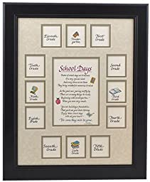 School Picture Frame - 11X14 Black Frame, Taupe Mat with Apple Verse, School Days Frame, School Years Frame, School Photo Frame, K-12 Frame, American Made, Solid Wood