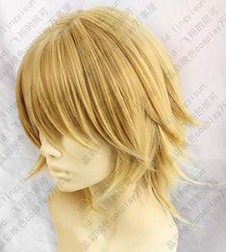 FidgetFidget Final Fantasy Type-0 Ace Light Blond Short Cosplay Costume Wig Free Wig Cap