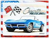 Corvette 65 Sting Ray Tin Sign 16 x 13in