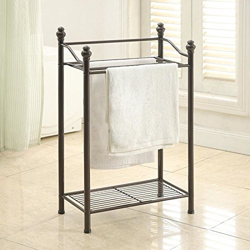 Amazoncom Belgium Free Standing Towel Rack Oil Rubbed Bronze