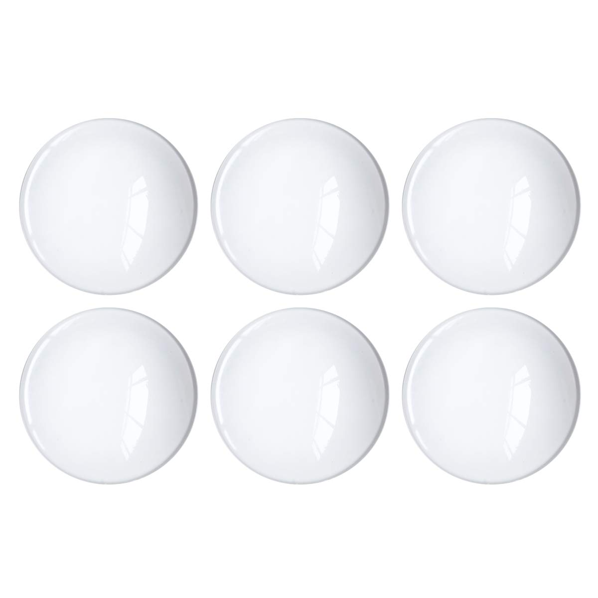 Glass Cabochon 50mm for Jewelry Making 10 PCS Round Dome Cabochons with Flat Backs Glass Dome Tiles Clear Cameo for Pendants Magnets and Crafts (10 PCS, 2 INCH) by NOBBEE