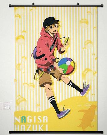 Home Decor Anime Free! - Iwatobi Swim Club Wall Scroll Poster Fabric Painting Nagisa Hazuki 23.6 x 35.4 Inches -083