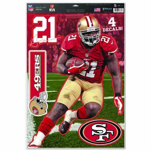 NFL San Francisco 49ers Frank Gore Multi-Use Decal Sheet, 11