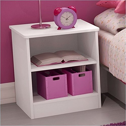 Pemberly Row Kids Nightstand in Pure White PR-346215