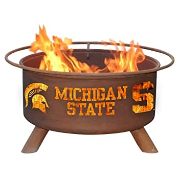 Image of Patina Products F403 Michigan State Fire Pit Fire Pits