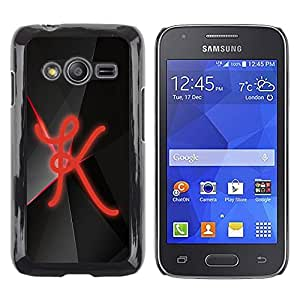 TopCaseStore / la caja del caucho duro de la cubierta de protección de la piel - K - Samsung Galaxy Ace 4 G313 SM-G313F