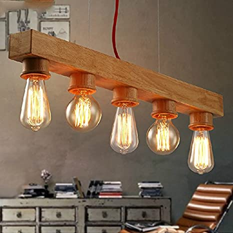 Lámparas de araña vintage moda Europea 5 Lámpara rústica de ...