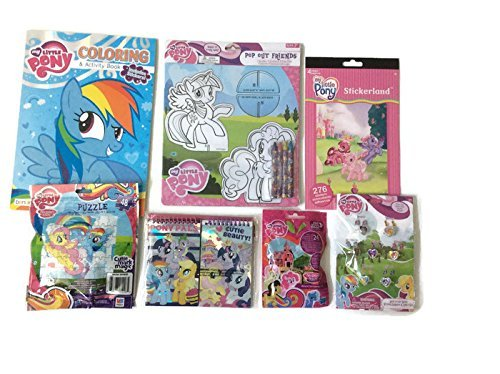 MLP Sticker Bendon Big My Little Pony Art /& Ring Set with Little Pony Memo Pads Coloring Pop Up Characters Too Crayons Puzzle /& Coloring Book Ring Set