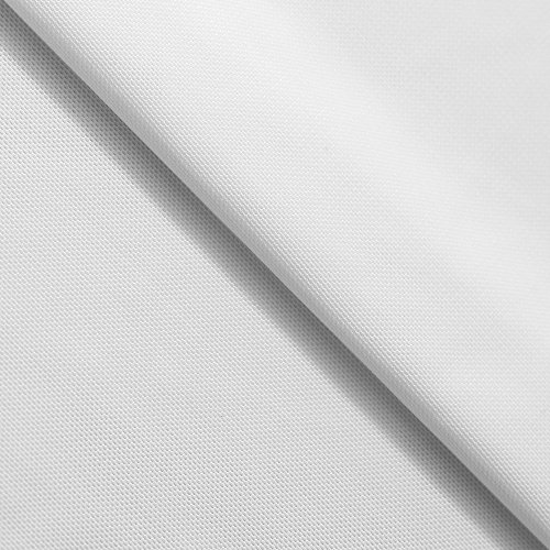 4-Way Stretch Power Net Fabric | Swimwear Lining, Garment, Non Garment Overlay | 90% Nylon, 10% Spandex (1 Yard, White)