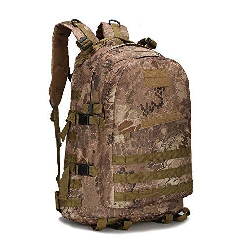 Wasserdichte Taschen Herren Oxford Klettern Outdoor 3D Sport Rucksack Outdoor Armee taktisches Kommunikationspaket Mini-Portable Blitz Paket, Army Green