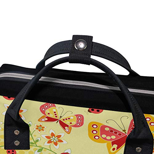 Multi3 Butterfly Canvas Bag Muti Colorful Women Backpack for Large Capacity Mummy Function Bag Travel Oqn8wdzC