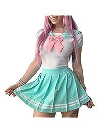 Littleforbig Adult Baby Onesie Pajamas - Cosplay Magical Girls Onesie Skirt Set