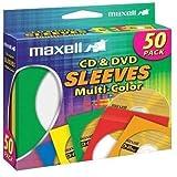 Maxell CD401 Multicolor CD/DVD Sleeves 190134