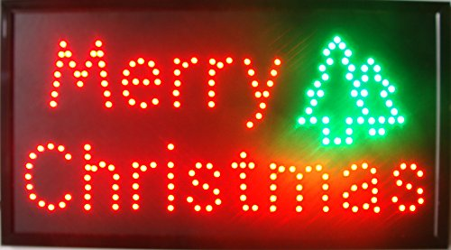 Merry Chirstmas LED Open Sign Animated Motion