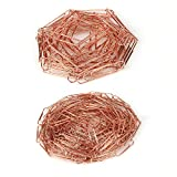Gaerudite Paper Clip, Non-Skid Smooth Finish Electroplate Metal Wire for Organizing Papers at Home, School, or The Office,Medium and Large Size 200pcs/28mm 70pcs/50mm (28mm),Rose Gold
