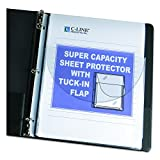 C-Line 61027 Super Capacity Sheet Protector with Tuck-In Flap, 200'', Letter Size (Pack of 10)