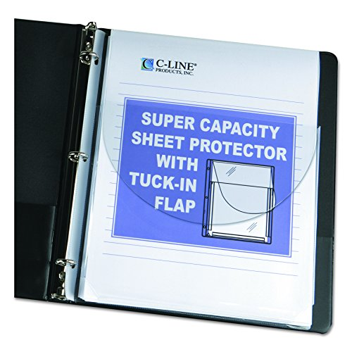 C-Line 61027 Super Capacity Sheet Protector with Tuck-In Flap, 200