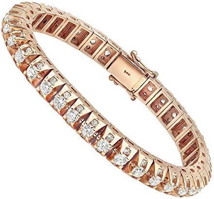 Luxurman 15 Carat Unique Diamond Tennis Bracelet for Men in 14k Gold 15ctw