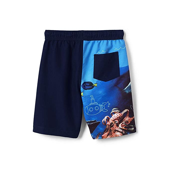 8dae5b090b Amazon.com: Lands' End Boys Husky Wrap Around Shark Swim Trunks: Clothing