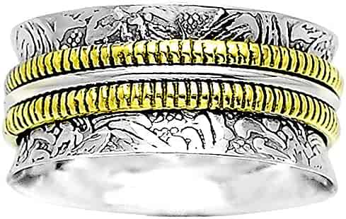 8.5 Desiregem Anti Anxiety and Worry Less Meditation Spinning 925 Sterling Silver Ring Size DGR1048