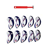 Dovewill Set of 10 Pieces White & Blue USA Flag Neoprene Golf Club Iron Head Cover Headcovers + Aluminium Golf Groove Sharpener Tool